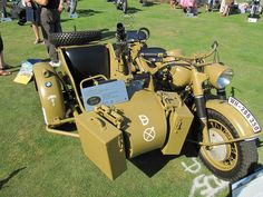 FIRE POWER!  1942 BMW R75 Motorcycle with Sidecar, via Flickr.