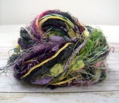 herb garden art yarn