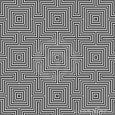 Optic illusion.geometric seamless pattern