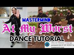 AT MY WORST   DANCE TUTORIAL#61(BY REQUEST)   FOR BEGINNERS  MASTERMIND REY BAYLON CHOREO  YAN XXVII - YouTube I Love You, My Love, I Am Bad, Im Not Perfect, Tutorials, Dance, Youtube, Fun, Dancing