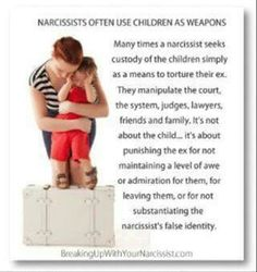 This. Using children as weapons/things and not people who need both their parents.