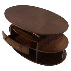 Have to have it. Progressive Furniture Oval Castered Lift-Top Cocktail Table - Dark Cherry and Birch $274.99