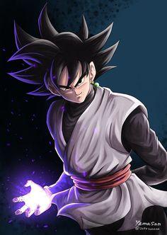 Goku Black By: Yamasan Dragon Ball Gt, Dragon Ball Image, Black Goku, Black Dragon, Wallpaper Do Goku, Dragonball Anime, Evil Goku, Fanart Manga, Goku Y Vegeta