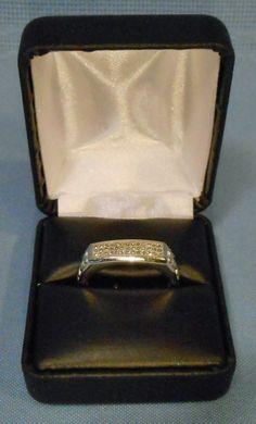 925 SILVER NDI REAL DIAMOND MENS FANCY OR WEDDING RING SIZE 10.75 -NIB on eBid United States