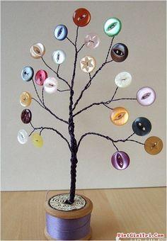"Biến hóa cùng ""khuy áo"" Kids Crafts, Button Crafts For Kids, Crafts To Make, Arts And Crafts, Crafts With Buttons, Easy Crafts, Diy Buttons, Buttons Ideas, Funny Buttons"