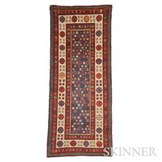 Talish Rug, South Caucasus, late 19th century, 7 ft. 9 in. x 3 ft. 4 in. | Skinner Auctioneers Sale 2795B