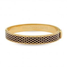 Salamander Blue & Gold Hinged Bangle | Halcyon Days (m)