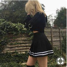 Korean Fashion – How to Dress up Korean Style – Designer Fashion Tips Tumblr Outfits, Edgy Outfits, Korean Outfits, Grunge Outfits, Skirt Outfits, Cool Outfits, Fashion Outfits, Kawaii Fashion, Cute Fashion