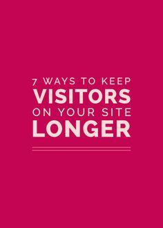 7 Ways to Keep Visitors on Your Site Longer   ElleandCompanyDesign.com