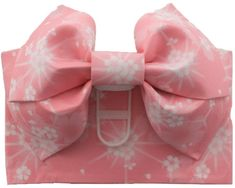 This Pink with White Cherry Blossom Butterfly Obi is pre-tied with a traditional Japanese bow and is very easy to put on. It includes both the obi wide belt and the pre-tied bow.