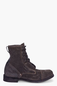 Rag And Bone Charcoal Suede Mallory Boots