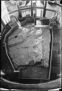 the Foundation Stone of the Jewish Temple, found in the Dome of the Rock mosque on the Temple Mount in Jerusalem.