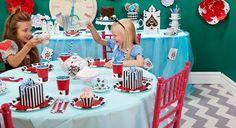 Alice in Wonderland party supplies.