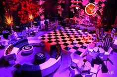 Alice in Wonderland Holiday Party – Space 57 at The Revere Hotel, Boston Night Club, Night Life, Bühnen Design, Alice In Wonderland Tea Party, Wonderland Events, Neon Bedroom, Fantasy Party, Nightclub Design, Dance Themes