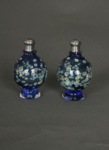 Pair of Hand Blown Blue Sphere Picnic Salt and Pepper Shakers. $79.95. www.ctlighting.com #holidaygifts