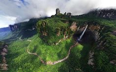 Dragon Falls are part of the Angel Falls located in Venezuela
