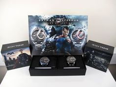 """February 18 2016: Police Unveil Limited Edition """"Batman v Superman"""" Watches"""