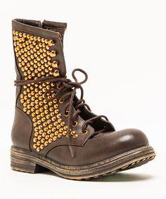 Brown Ryanne Boot by Qupid