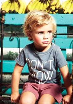 If I have the patience to keep from cutting Peyton's hair, I think it will turn into this (but darker)