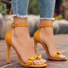 Summer Bow Tie Ankle Strap Stiletto Sandals