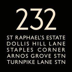 London Bus Blind Bus Route 232