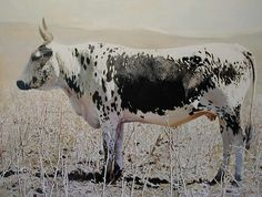Nguni Bull by Leigh Voigt - my favorite artist Cow Painting, South African Artists, Horse Art, Figurative Art, Cattle, Pet Portraits, Farm Animals, Painting Inspiration, Ipad
