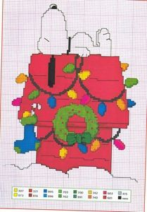 Cross-stitch Snoopy.. One pinner stated: And I automatically hear the Charlie Brown music . . .