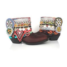 Custom Wilde Boots for Roxanna  (Made to your specifications-- vintage banjara belts, beaded medallions, and beaded fringe)