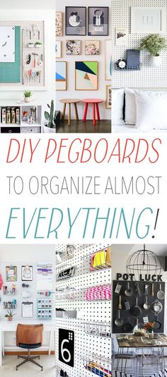 22 DIY Pegboards to Organize Almost Everything