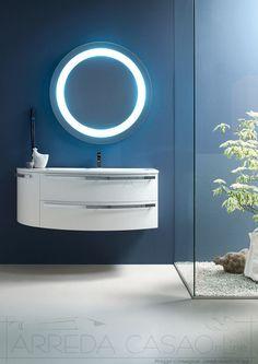 Arredo Bagno curvo specchio tondo Ly26 | Prezzo ARREDACASAOnLine
