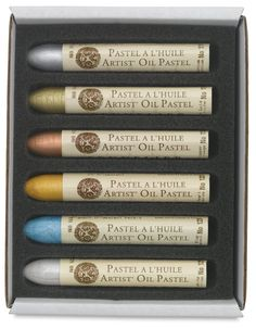 sennelier oil pastels- so far i have only experimented with their silver and gold, great quality though