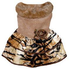 Vestido em Veludo Cotele Bege Dudog Vest - MeuAmigoPet.com.br #petshop #cachorro #cão #meuamigopet
