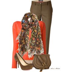 Brown Scarf by sonies-world on Polyvore featuring moda, Pinko, Etro, Christian Louboutin, Chloé and Faliero Sarti