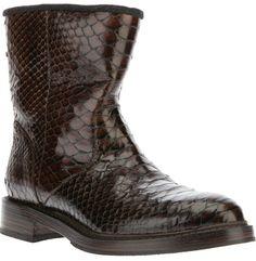 Brunello Cucinelli snake skin boot