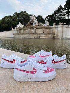 Handmade Custom Designed Sneakers! #kingbyit #custom #customairforceones #airforce1 #pinterest Air Force Ones, Custom Design, Sneakers Nike, King, Photo And Video, Handmade, Instagram, Fashion, Nike Tennis
