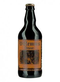 """WILLEMOES STOUT / tout – 6,0% vol.  Willemoes Stout er brygget på pilsnermalt, karamelmalt og specialmalte.  Det er en kraftig og fyldig, mørk, overgæret øl med smag af karamel og mokka, og med en behagelig, bitter eftersmag.  Denne øl er ikke den stærkeste i """"Stout-familien"""" mht. alkohol, men lidt lettere og meget behagelig. Den flotte, mørke farve stammer fra brug af mørkristet malt."""