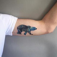 geometric polar bear tattoo - Sasha Unisex