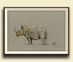 Hey, I found this really awesome Etsy listing at https://www.etsy.com/listing/193987985/print-white-rhino-rhinoceros-animal-art