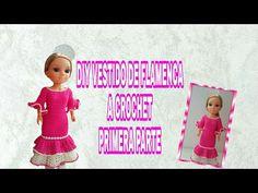DIY VESTIDO FLAMENCA A CROCHET PARA MUÑECA (PRIMERA PARTE) - YouTube Diy Vestido, Barbie And Ken, Crochet Hats, Make It Yourself, Dolls, Youtube, Blog, Patterns, Videos