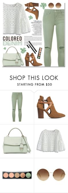 """Spring Trend: Colored Denim"" by tamara-p ❤ liked on Polyvore featuring Anja, Joe's Jeans, H London, MICHAEL Michael Kors, Chicwish, MAKE UP FOR EVER, Victoria Beckham and coloredjeans"