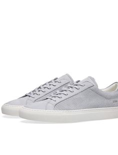 aad3a3684 Mens Common Projects Perforated Retro Achilles Low Top Sneaker Us Size 11 Eu  44