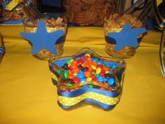 Star themed candy containers