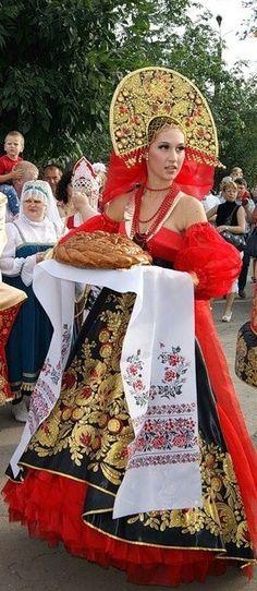 typische Kleidung von Russland.