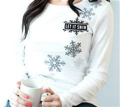 Create this fun winter wonderland t-shirt to bring on the snow!