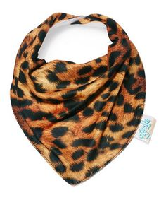 Another great find on #zulily! Brown Cheetah Bandanna Bib by Giggle Threads #zulilyfinds