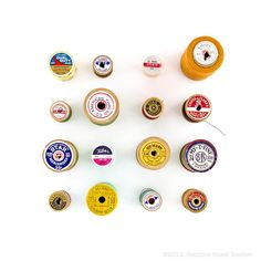 Vintage Thread Labels  by Jennifer Steen Booher
