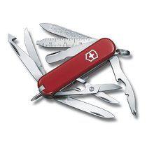 Messer Victorinox MiniChamp 0.6385, Anzahl der Funktionen 16.  Messer  Schere  Nagelfeile mit  - Reinigung der Nägel  Werkzeug, um die Nagelhaut
