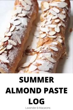 This easy Almond Paste Log is going to become your favorite sweet treat this summer. It features almond paste or marzipan nestled inside the crispy puff pastry and baked to perfection. This simple dessert is a crowd-pleaser and perfect for any occasion. Vegetarian Recipes Puff Pastry, Savoury Pastry Recipe, Easy Puff Pastry Recipe, Easy Pastry Recipes, Recipe Using Almond Paste, Almond Paste Cookies, Autumn Brunch Recipes, Easy Brunch Recipes, Brunch Ideas