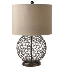 I think I found my lamps  Metal Circle Table Lamp