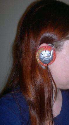 ¤ Pallosilmukka ¤: Virkatut tuunatut kuulokkeet